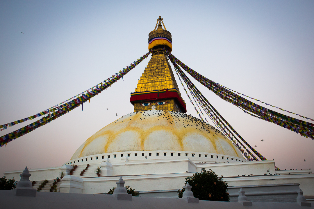 Dawn Lights on Boudhanath Stupa, Kathmandu - Photo by Lorenz Berna, Travel photographer