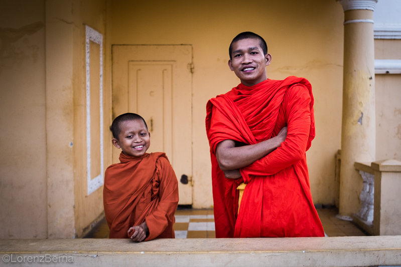Monks smiles in Phnom Penh, Cambodia - Travel Photography by Lorenz Berna