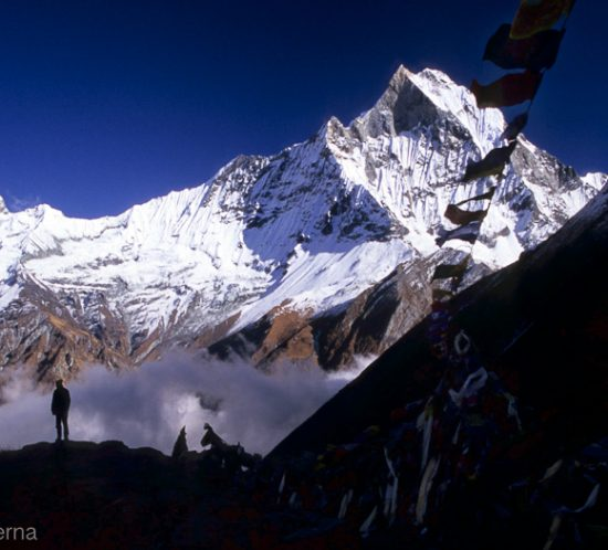 Machapuchare mountain from Annapurna Base Camp - Landscape picture by Lorenz Berna from the Nepal Photo Gallery