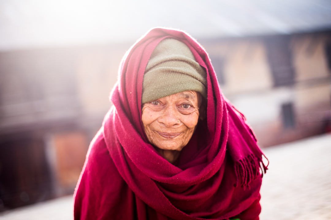 Old Nepali woman portrait - Nepal Travel Photography by Lorenz Berna