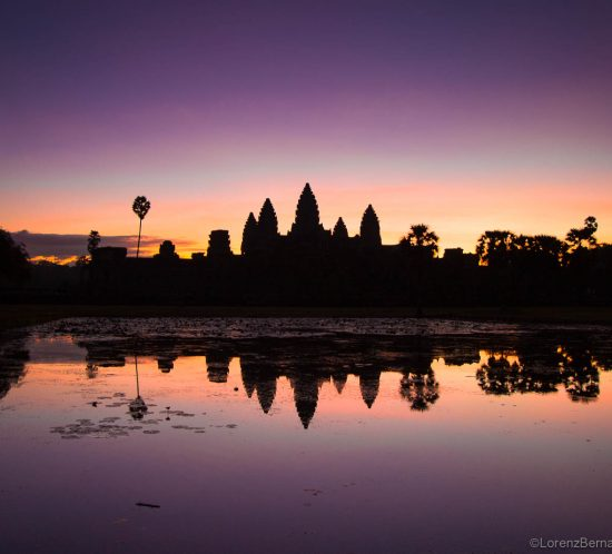 Angkor Wat at sunrise - A Lorenz Berna travel photography of Cambodia