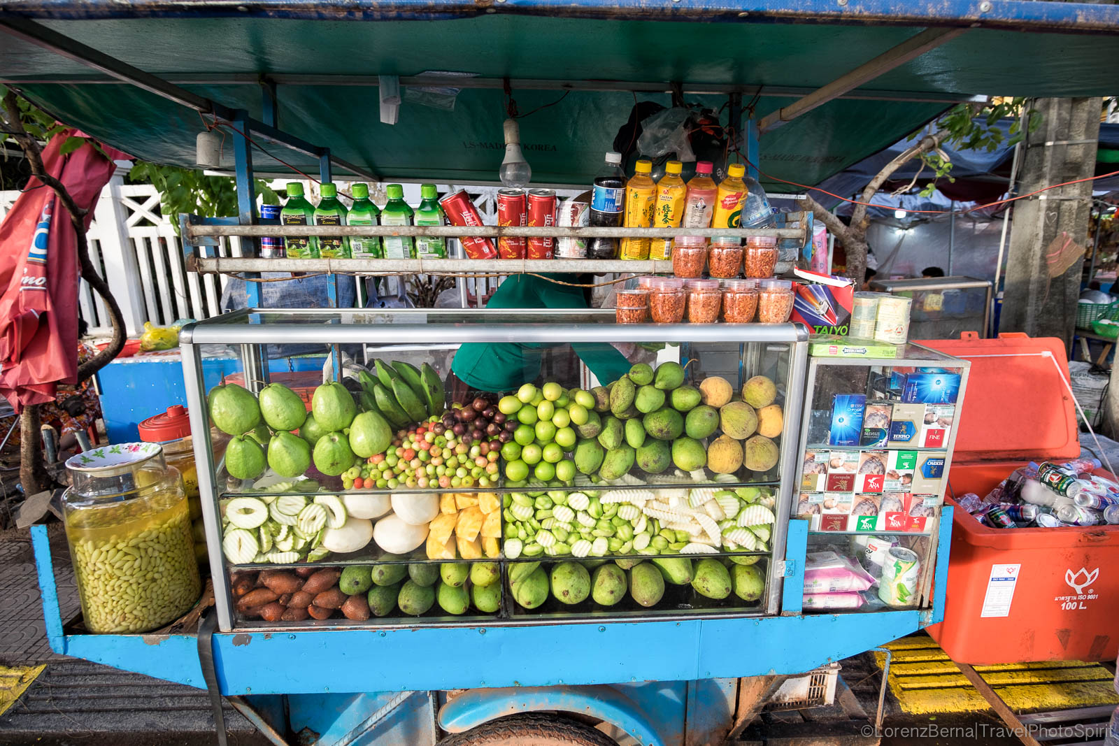 Typical Cambodian street food stall