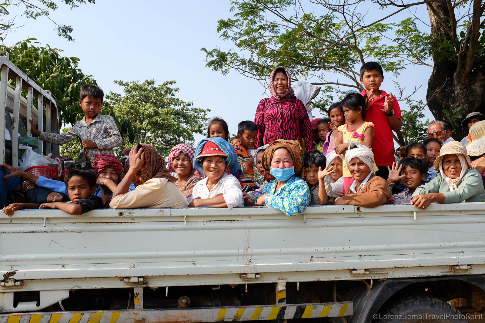 Transportation of people in Kampot countryside, Cambodia