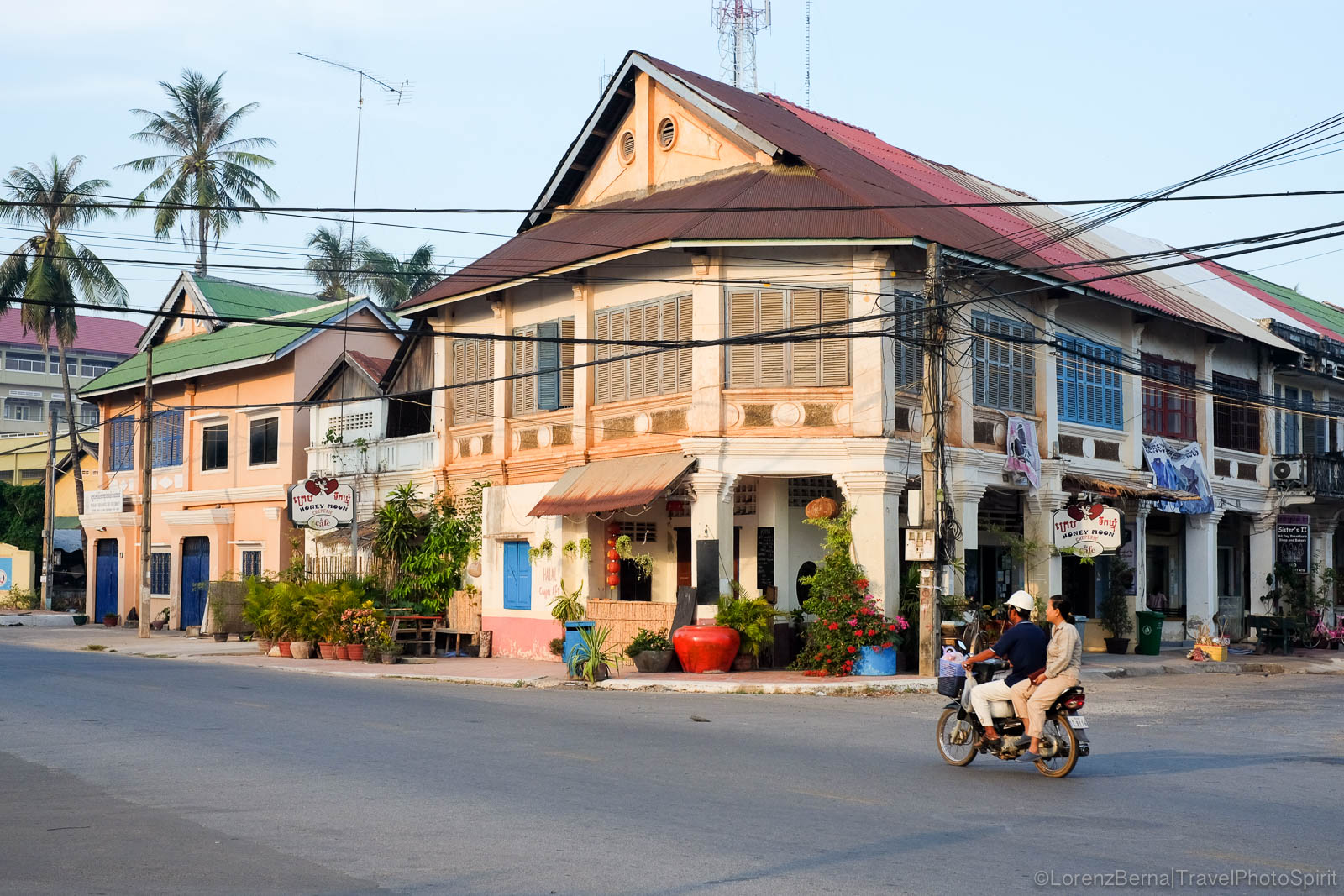 Colonial building in Kampot, Cambodia
