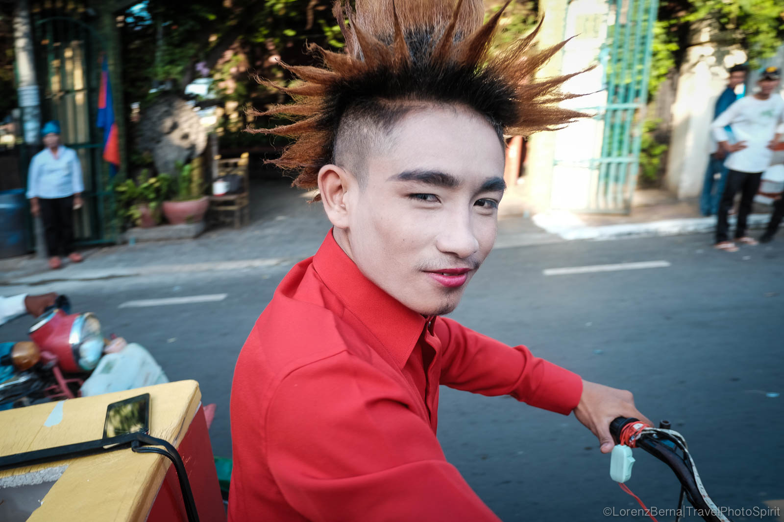 Punk man in Phnom Penh, Cambodia