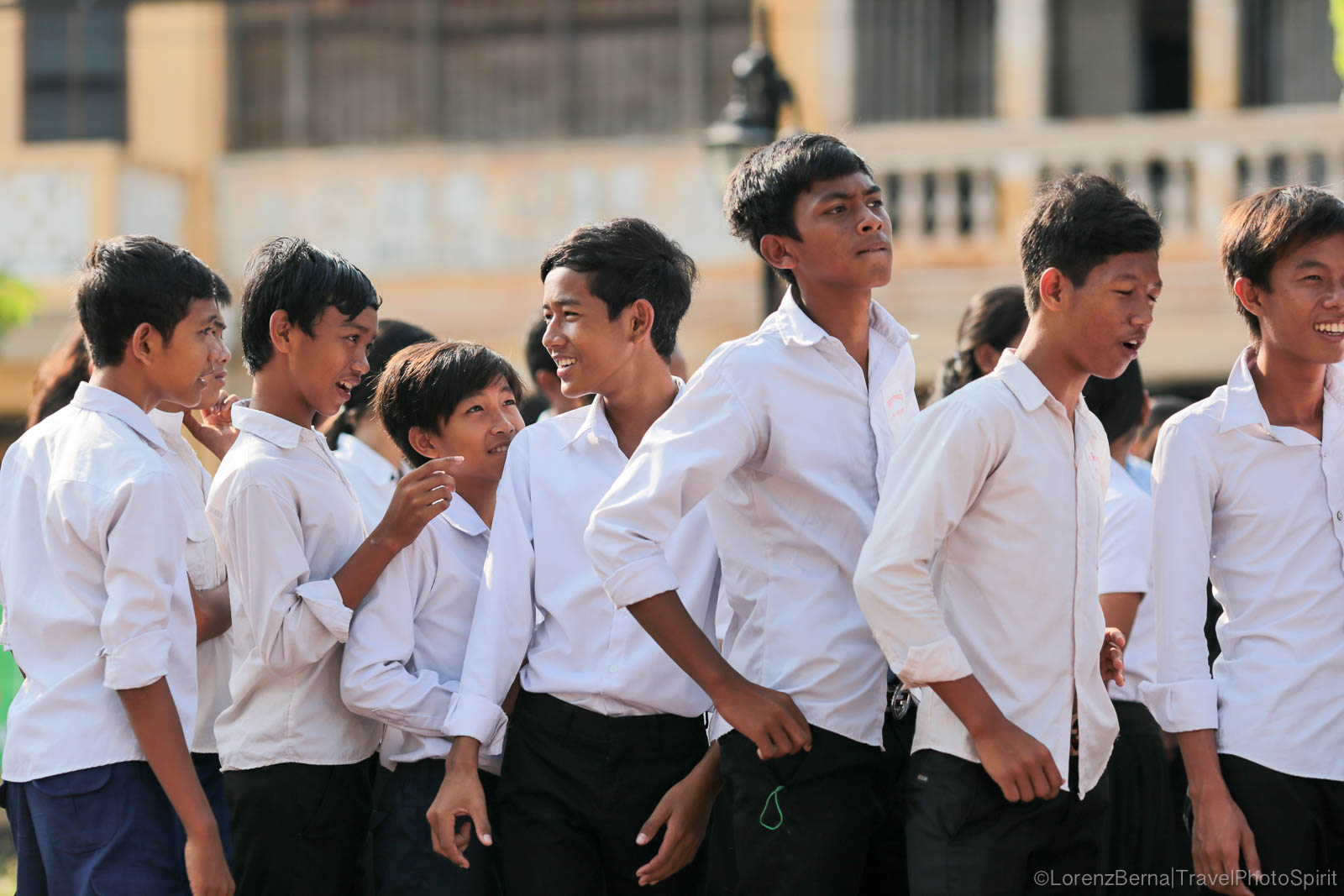 School boys in Kampot, Cambodia