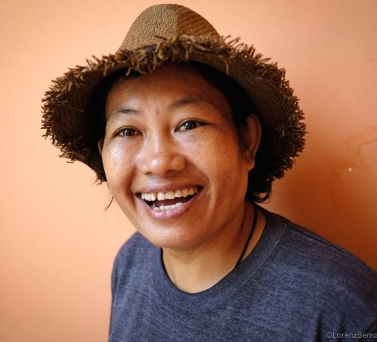 Portrait of the founder of Driversrey, an organisation of women tuk tuk drivers in Siem Reap, Cambodia