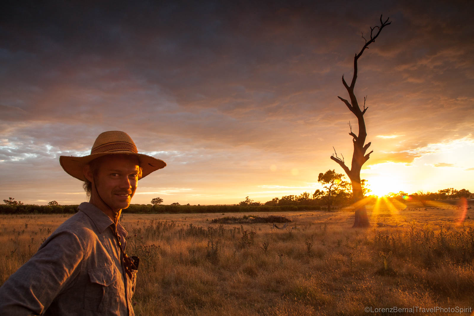 Australian young farmer in New South Wales - A Lorenz Berna Travel Photography of Australia