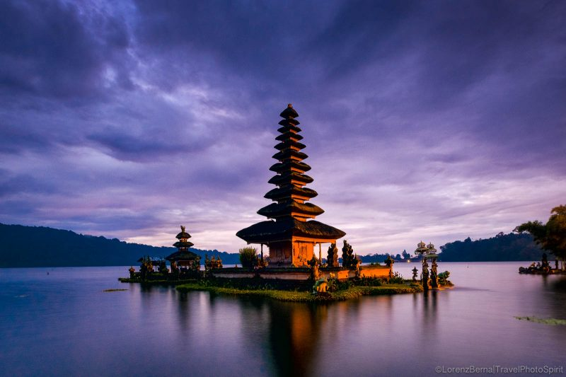 Danau Bratan temple at dawn, Bali - Indonesia Travel Photography by Lorenz Berna