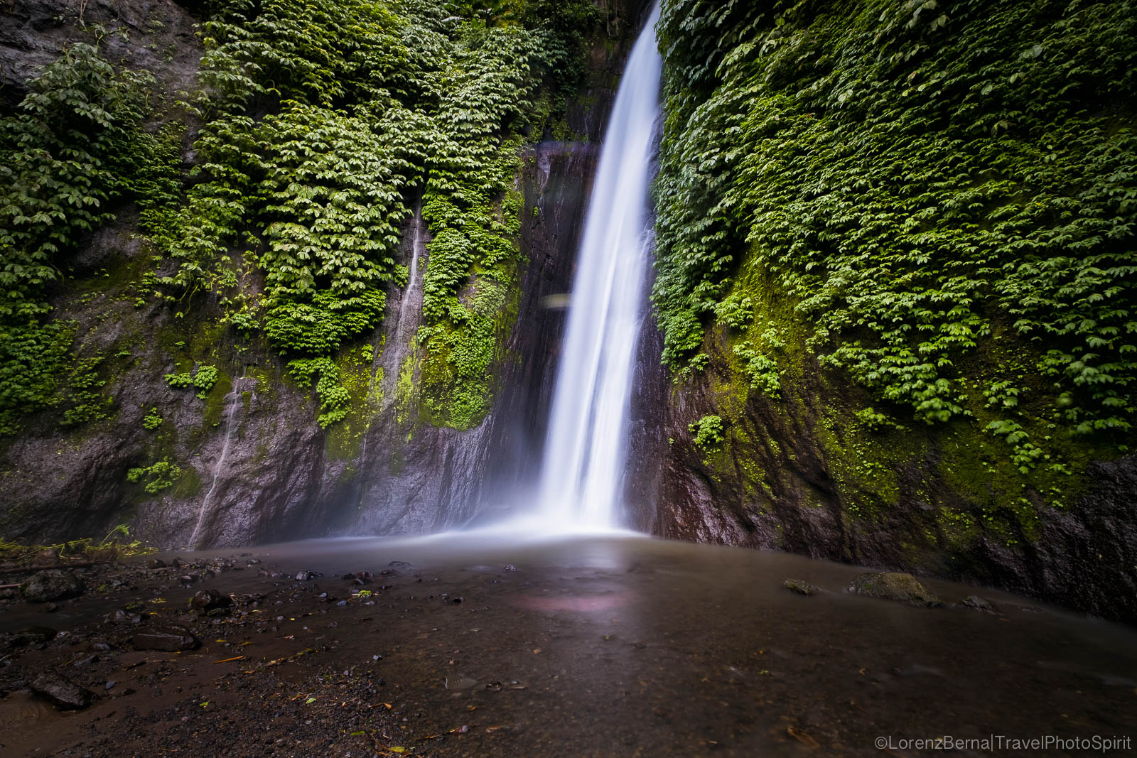 Gitgit waterfall in Munduk, Bali, Indonesia.