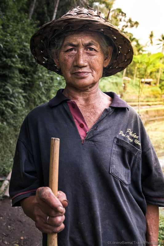 Portrait of a rice farmer in Munduk, Bali, Indonesia.