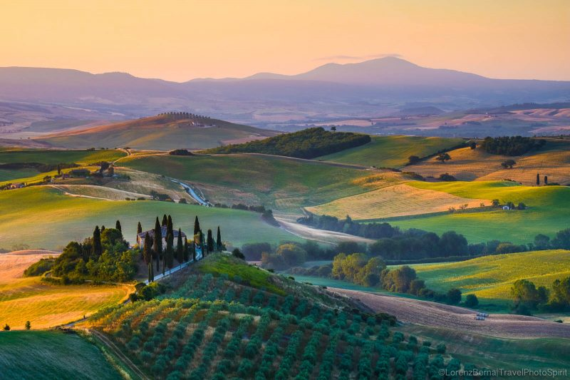Multicolour Sunrise in Val d'Orcia - a Lorenz Berna Photography of Italy