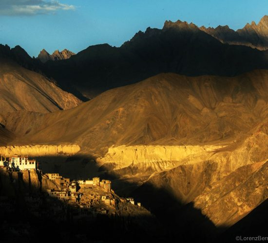 Sunset on Lamayuru Tibetan Monastery in Ladakh - A Lorenz Berna Travel Photography of India