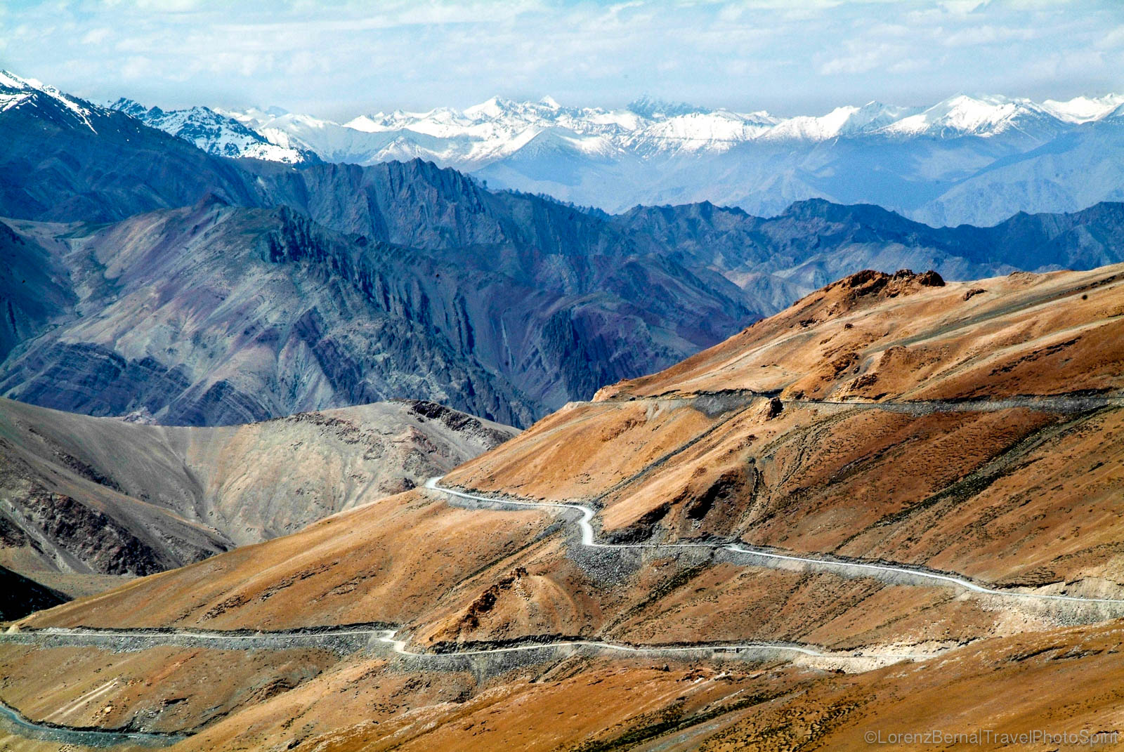 View from Tanglang La in Ladakh on the Leh-Manali highway - A Lorenz Berna Travel Photography of India