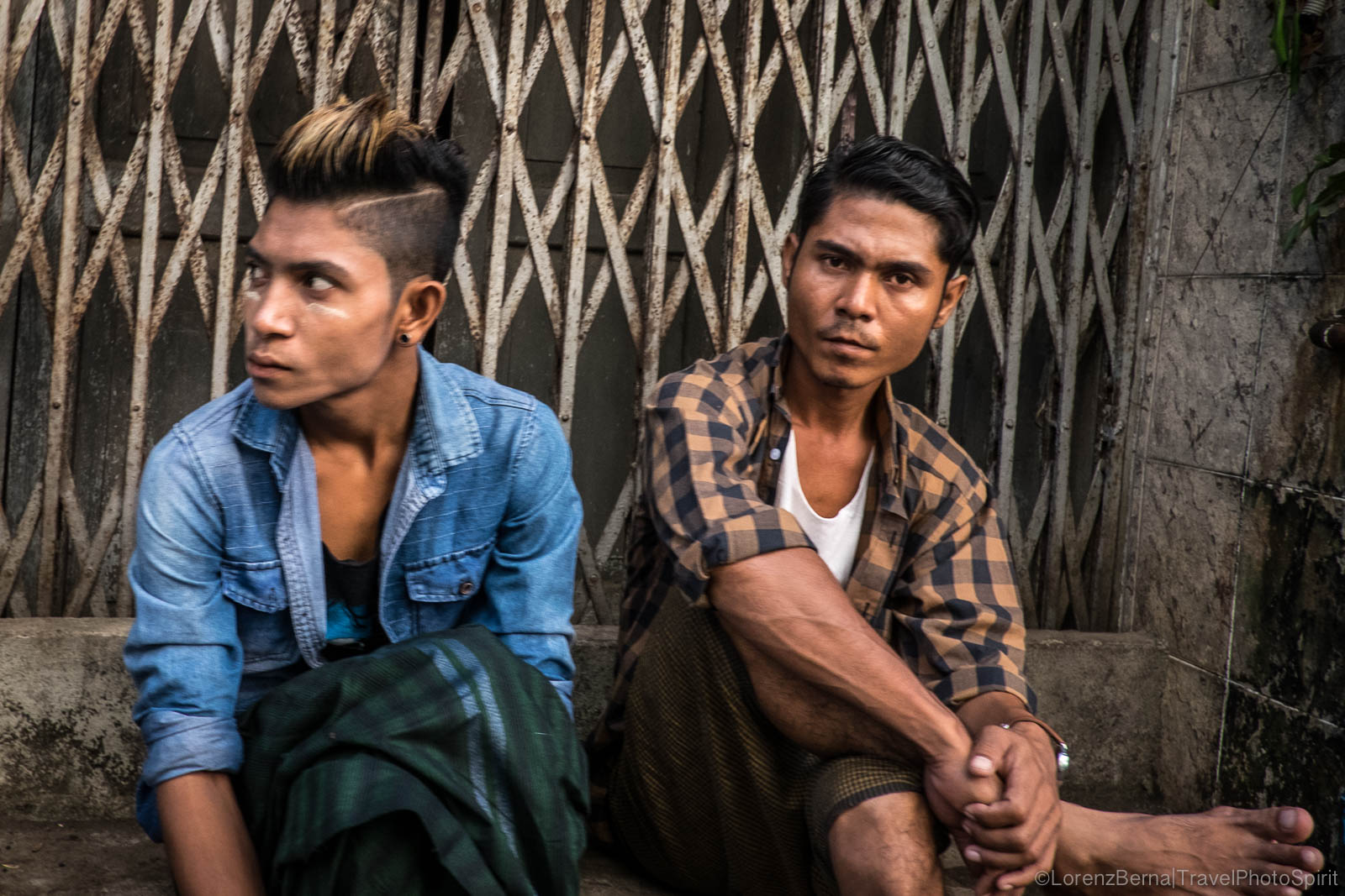 Young boys in Yangon, Myanmar