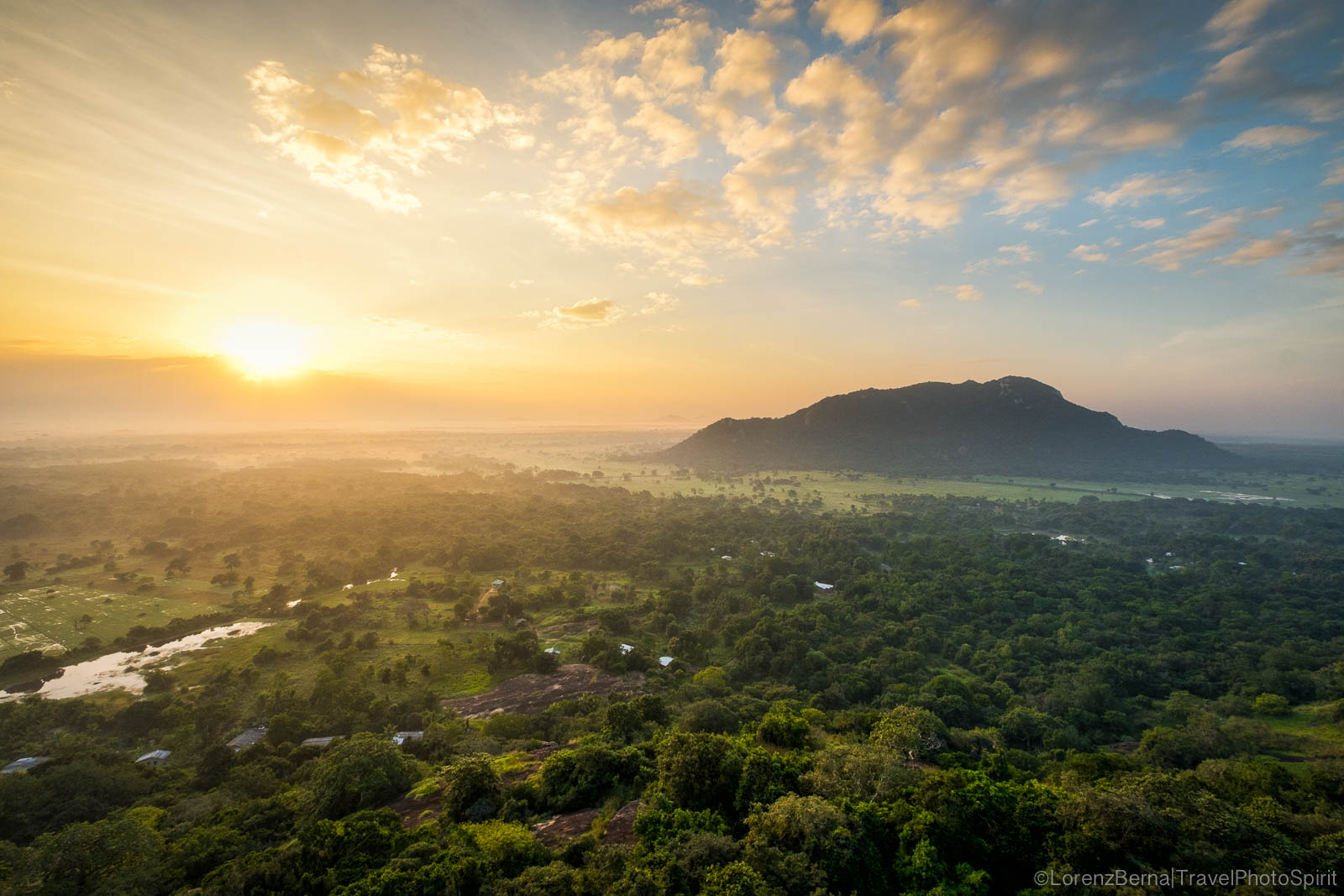 Sunrise over Mihintale, Sri Lanka.