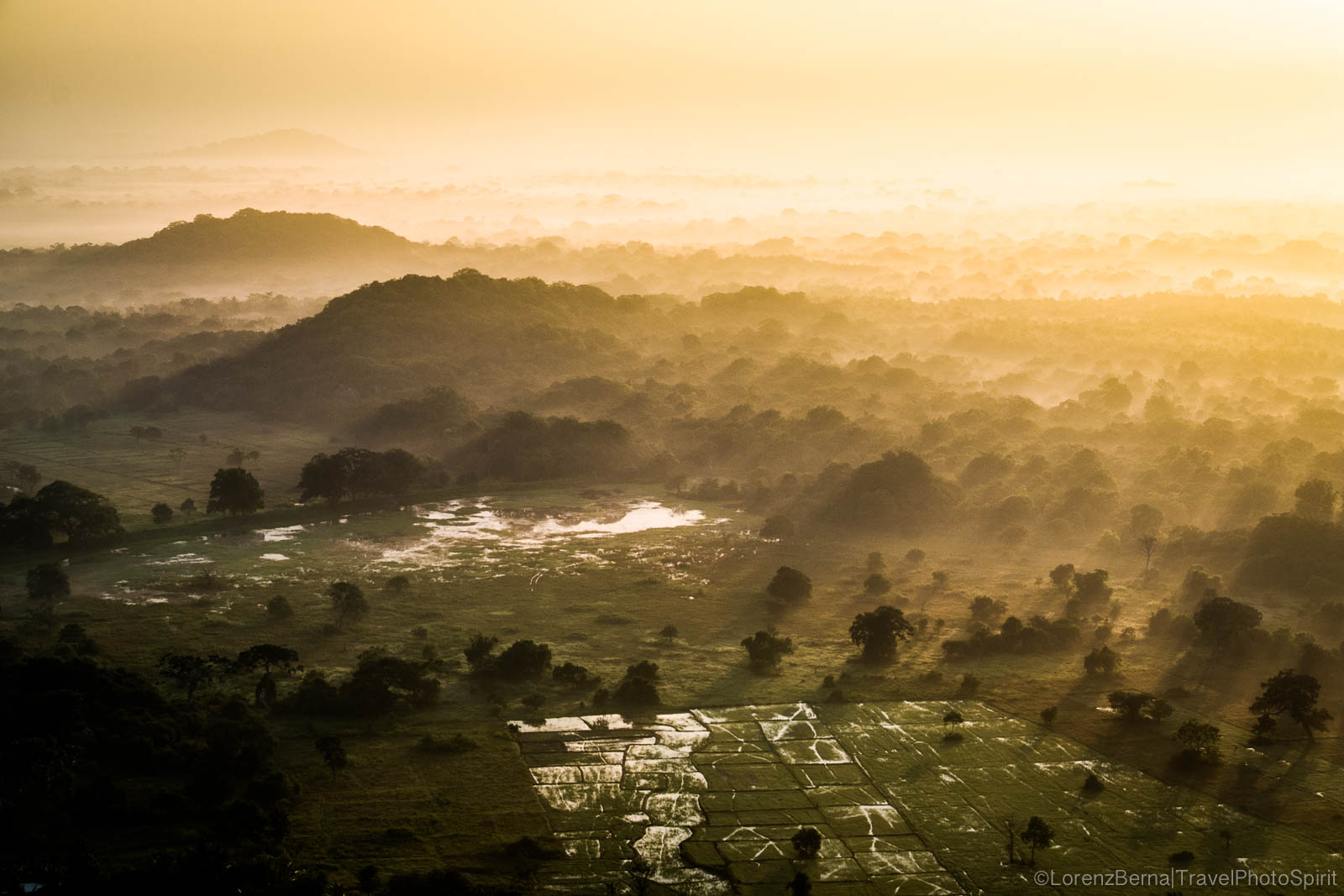 Sunrise on Mihintale surrounding valley - A Sri Lanka travel photography by Lorenz Berna