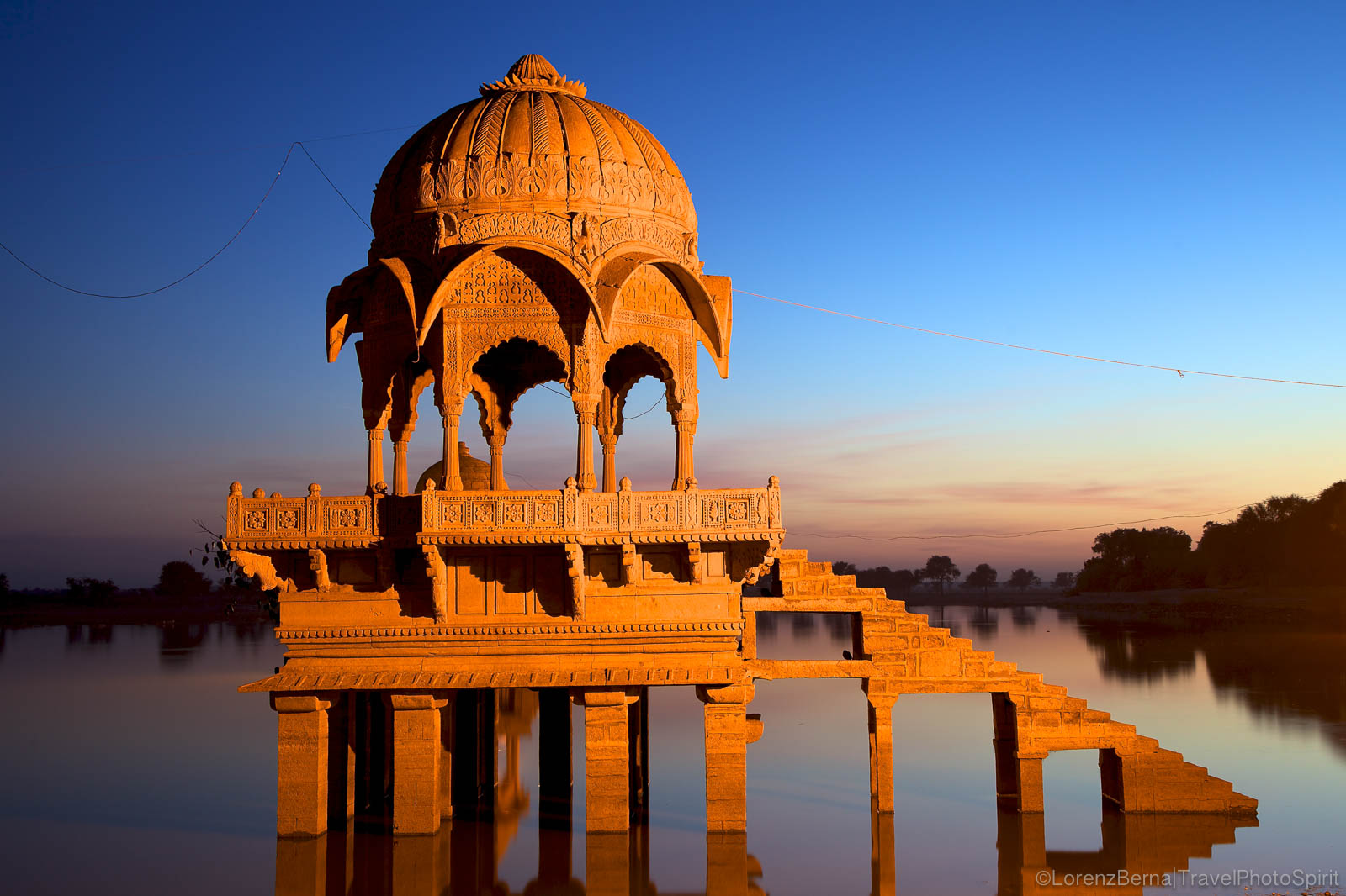 Gadisar Lake at sunset, Jaisalmer, India
