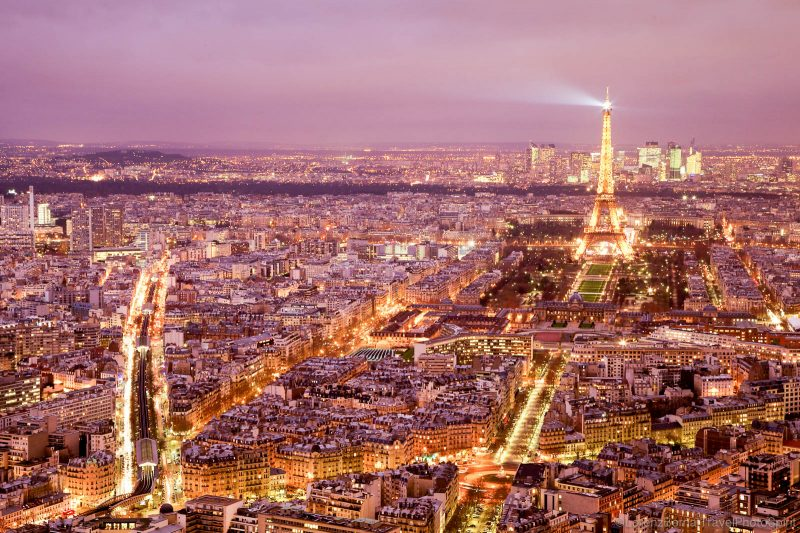 Cityscape of Paris, by night - A Lorenz Berna Photography of France