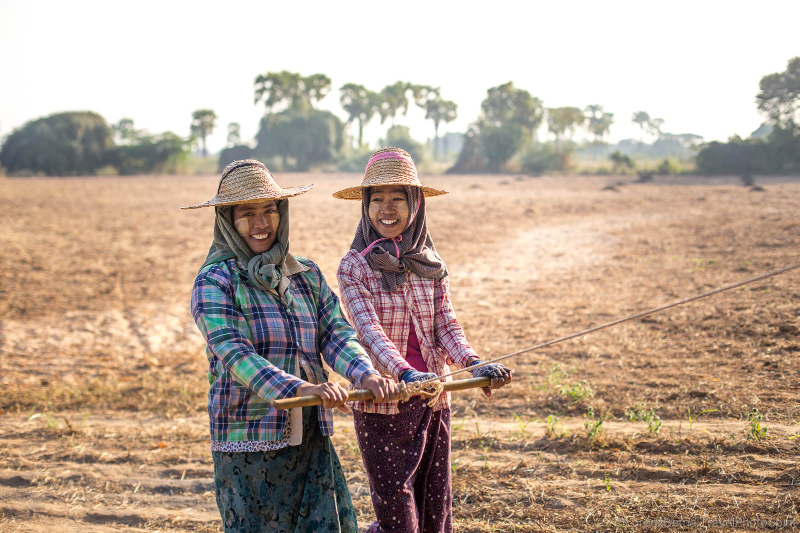 Women Farmers in Bagan, Myanmar.