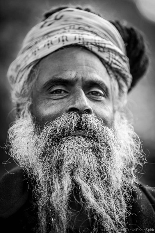 Portrait of a Sadhu in Pashupatinath Hindu Temple, Kathmandu.