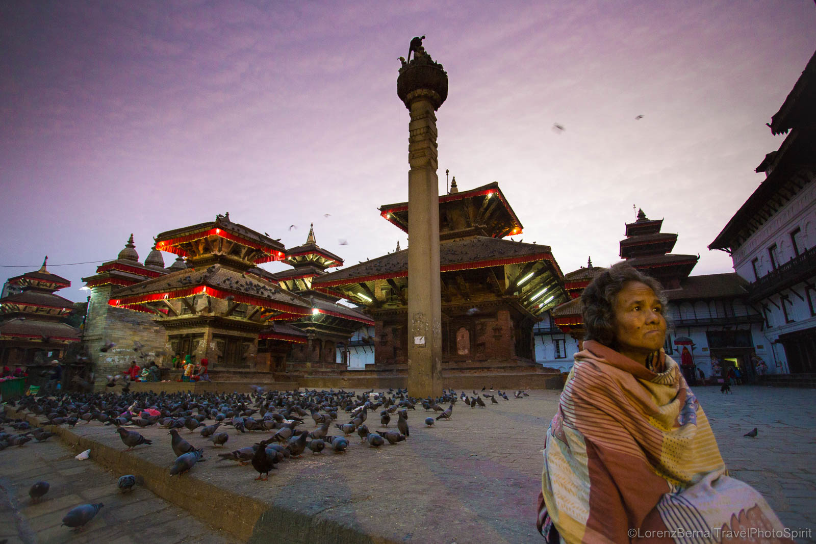 5.30am in Khatmandu Durbar Square.