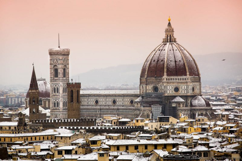 Florence under the snow from Piazzale Michelangelo - A Lorenz Berna Photography of Italy.