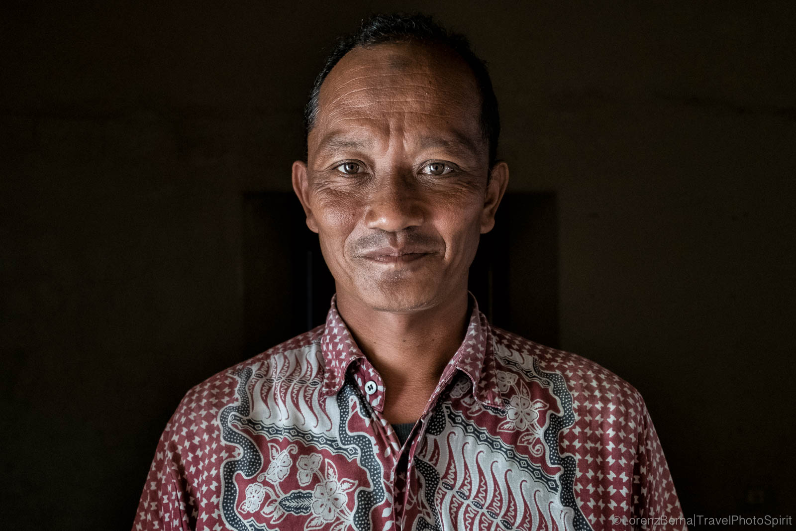 Indonesian man travel portrait, Java, Indonesia.