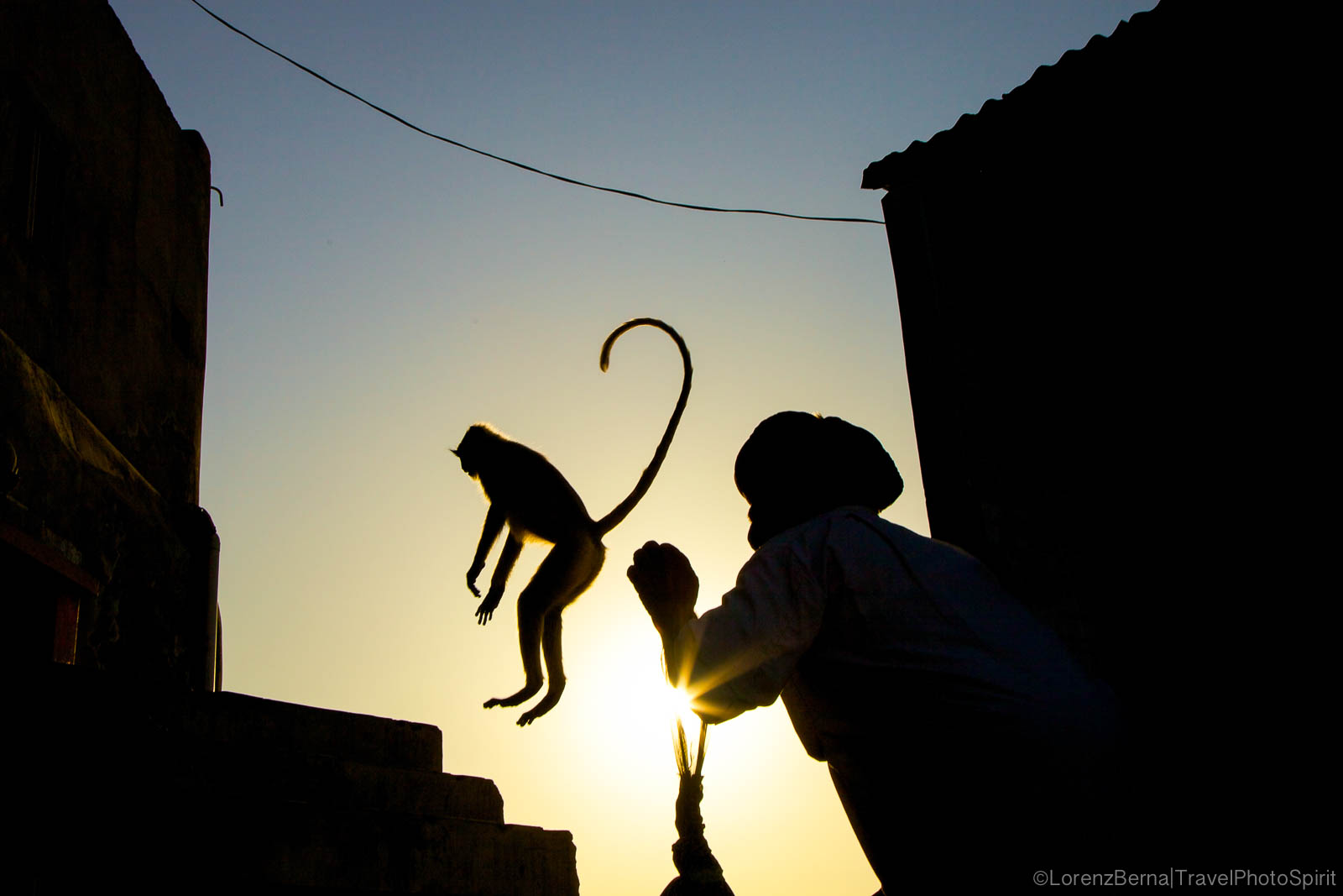 Shaman of the Monkeys - India street photography by Lorenz Berna