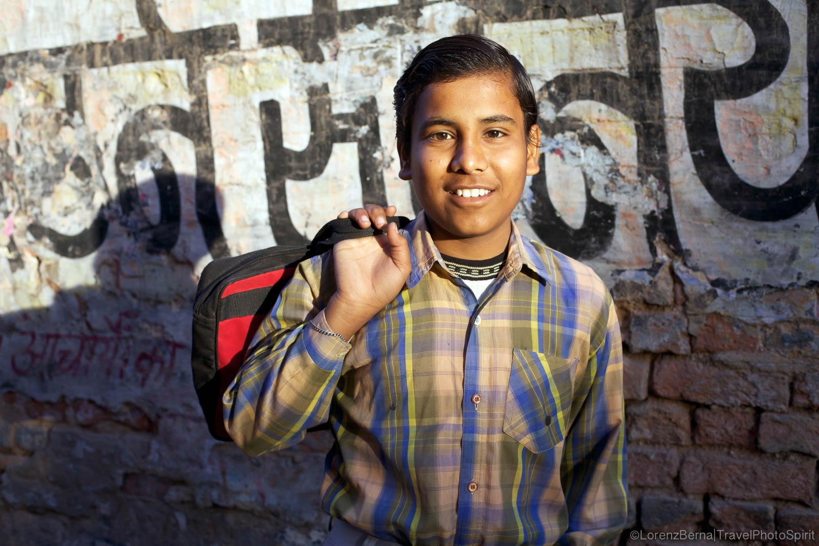 India Street portrait : young boy from Bikaner, India