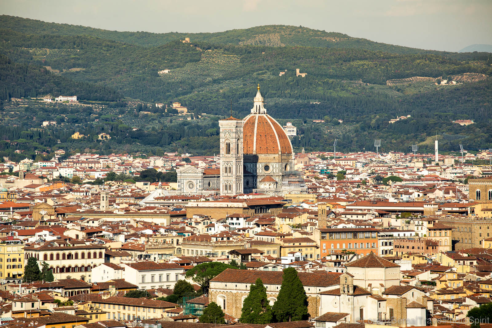 Florence view from Bellosguardo hill, Tuscany, Italy.