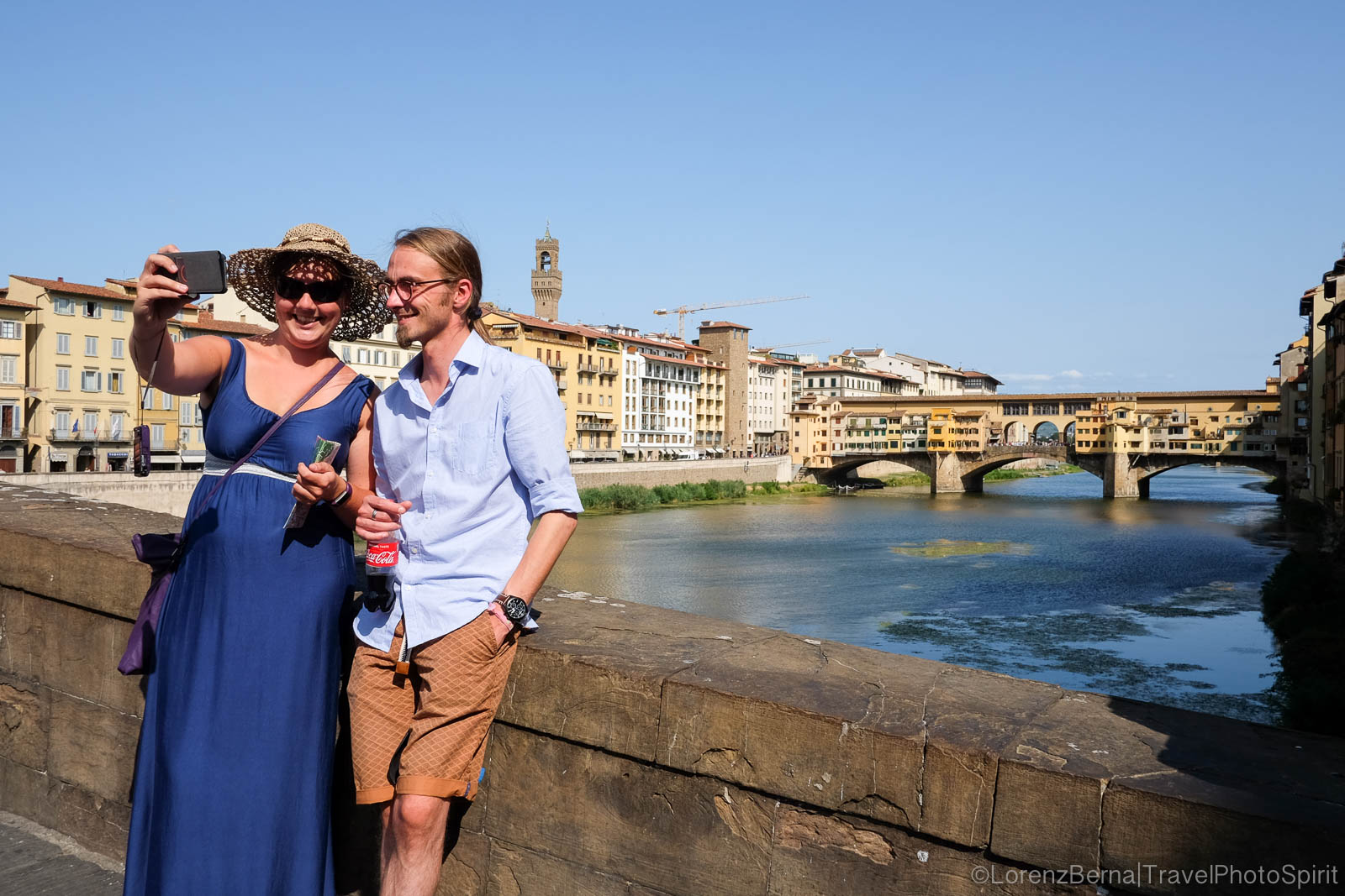 Love souvenir in Florence, in front of the Palazzo Vecchio, Florence, Tuscany, Italy.