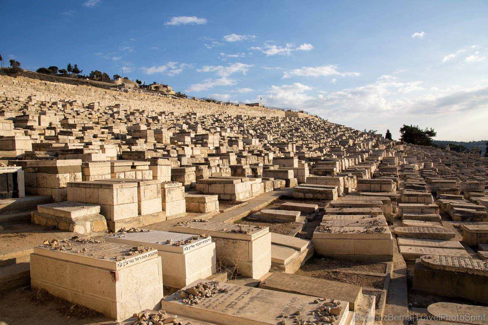 The Jewish cemetery of Jerusalem, Israel.