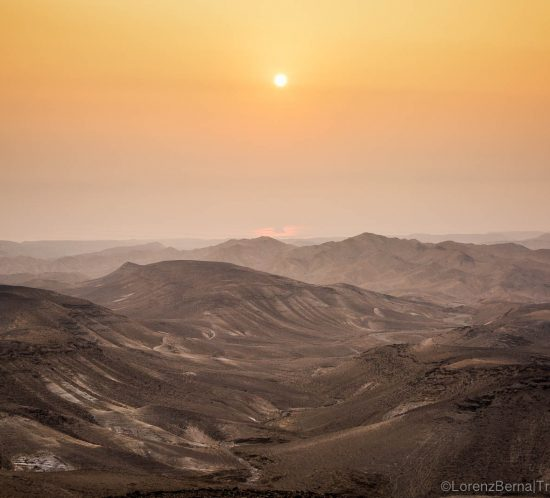 Landscape at dawn in the Judean Desert