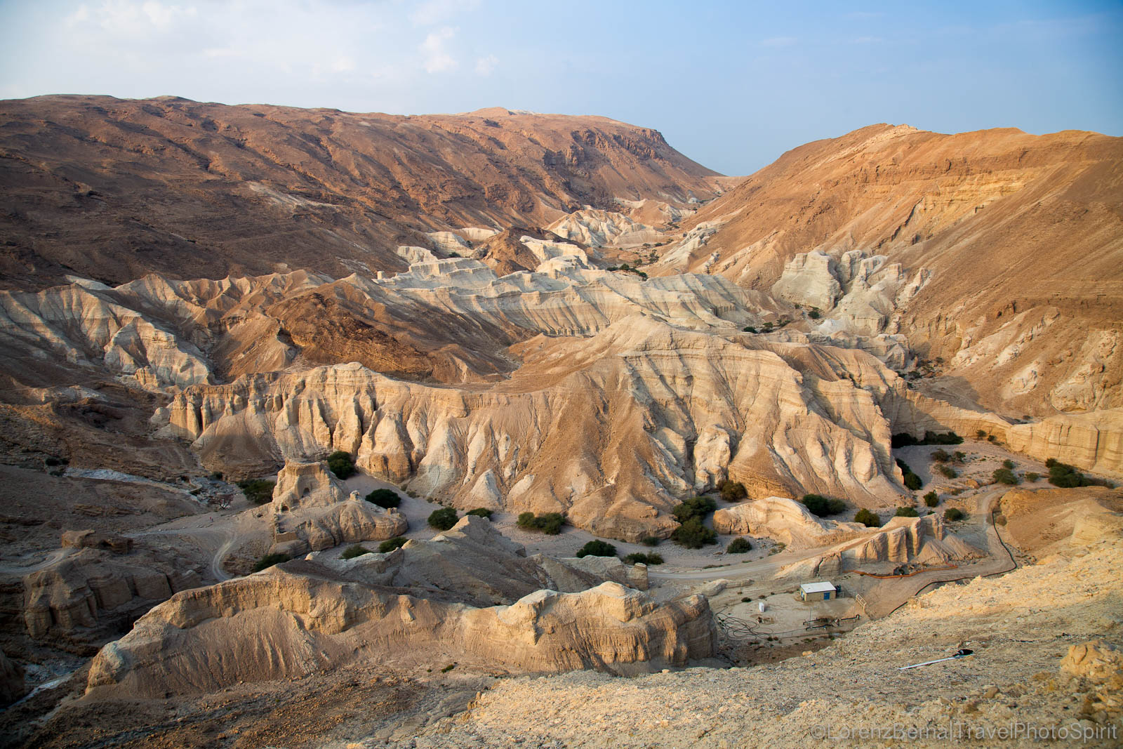 The canyons and rocky formations of the Judean Desert, hosting ruins of ancient villages and/or camps, Israel.