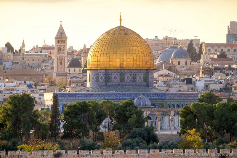 Dome of the Rock in Jerusalem, Israel, before sunset - A Lorenz Berna travel photography of Jerusalem.