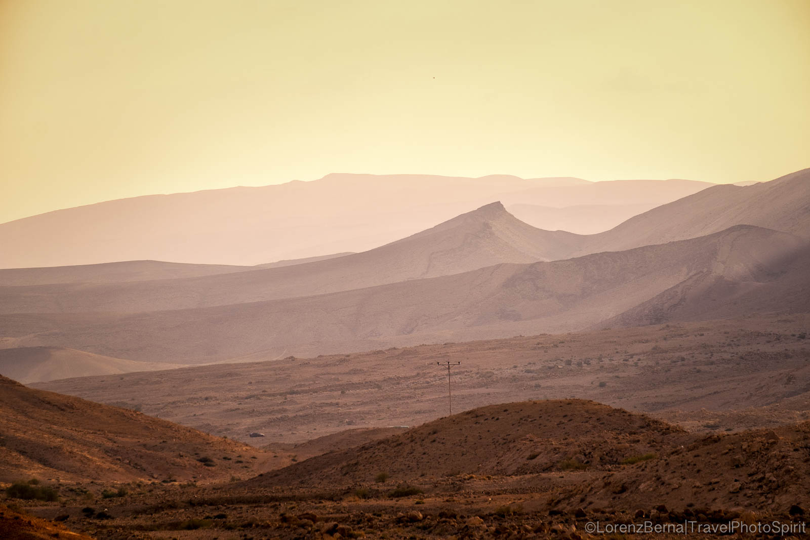 Landscape of the Negev Desert, the Northeastern part of the Judean Desert, Israel.