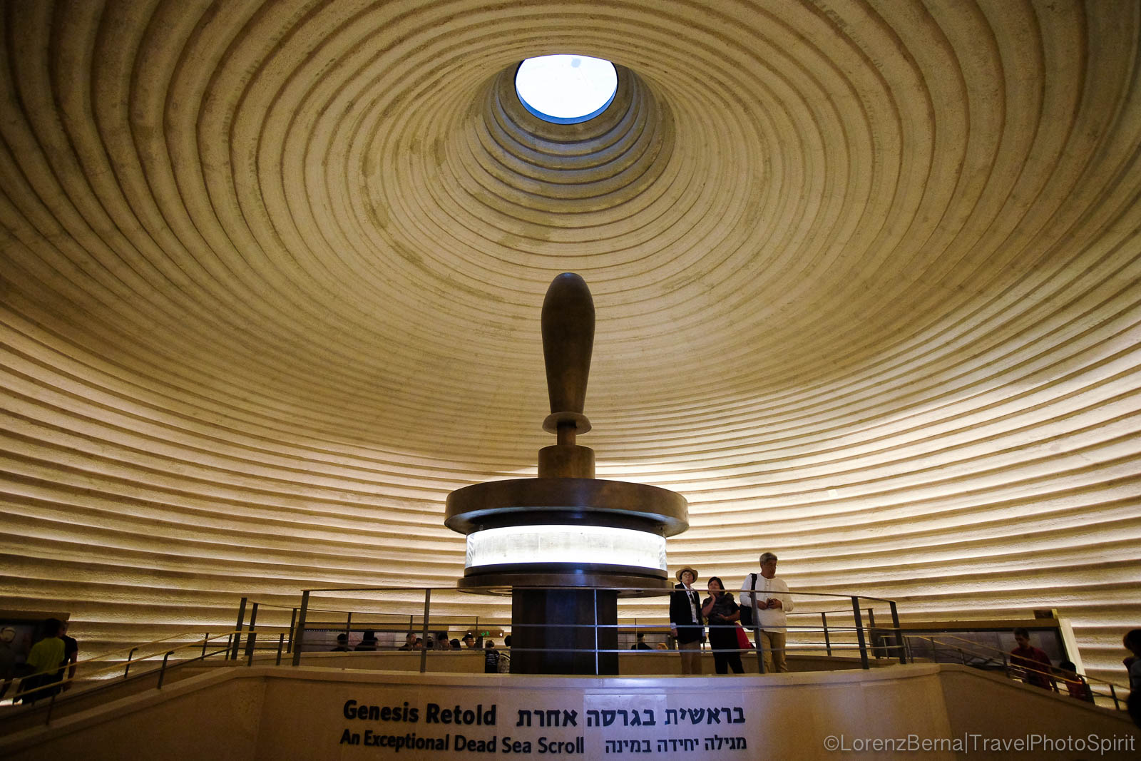 Inside the Shrine of the Book, Jerusalem, Israel.