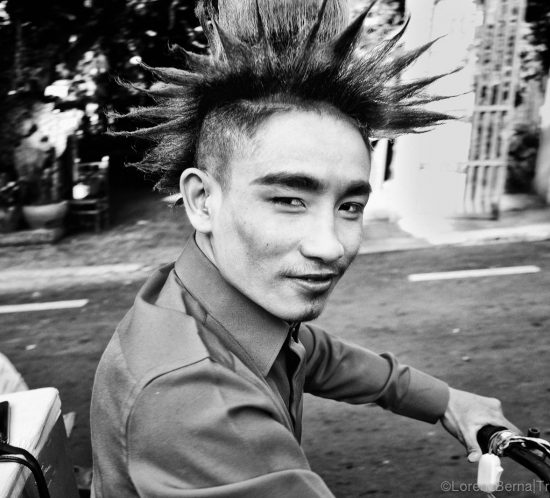 Street Portrait of young khmer man in Phnom Penh, Cambodia. Photo by Lorenz Berna
