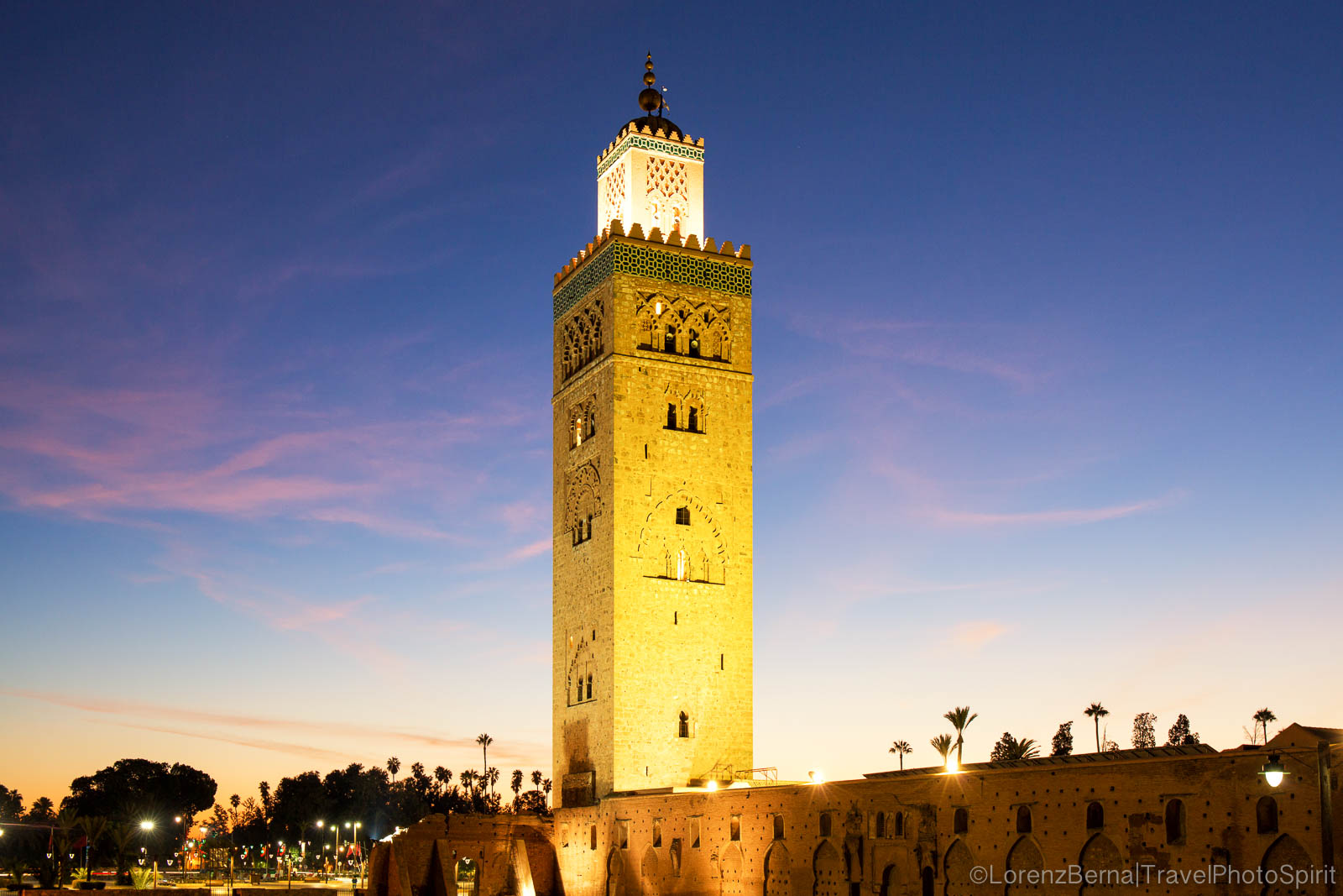 Koutoubia Mosque at blue hours