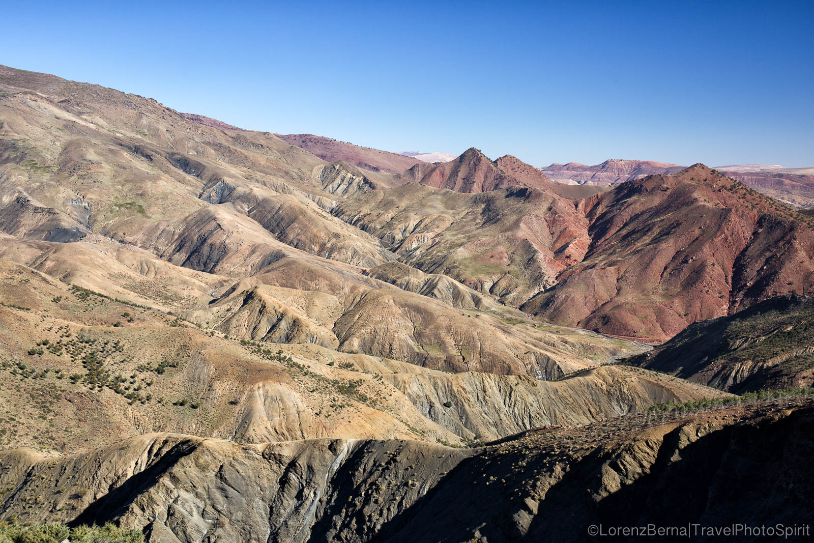The High Atlas mountain range of Morocco.