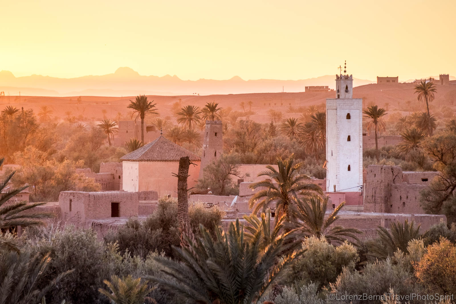 Landscape Photography of Skoura, Morocco, at sunset. Morocco photography by Lorenz Berna