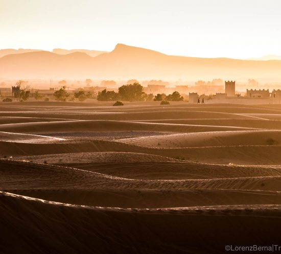 Morocco photos : Fortified citadel of the desert, in the sunset lights - A Lorenz Berna's Morocco Landscape Photography / Travel photography.