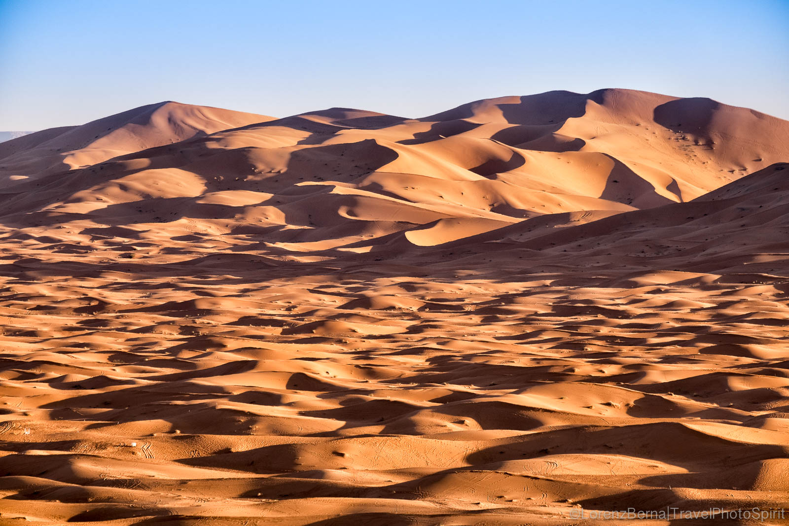 The sand dunes of Merzouga desert in Morocco
