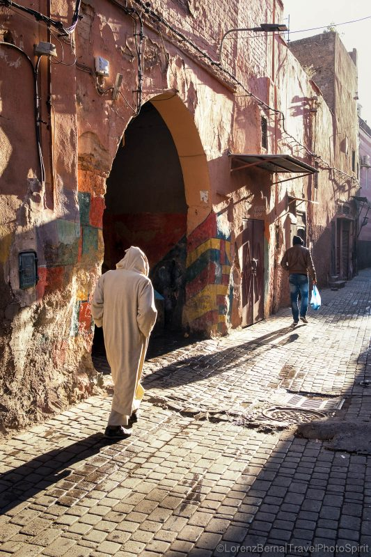 A street in the Medina at the first light of the morning.
