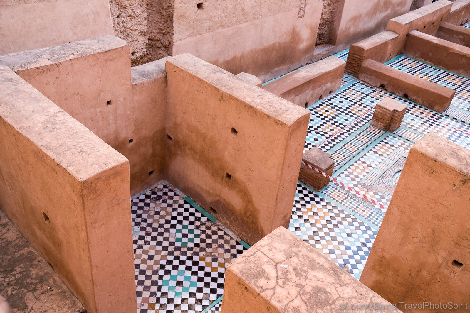 Inside the walls of El Badi palace in Marrakech