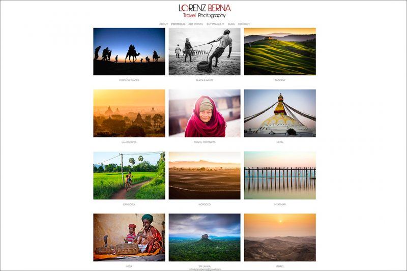 Lorenz Berna Photography Portfolios on his website.
