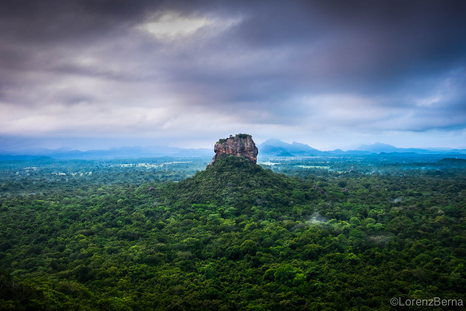 Sigirya from Pidurangala rock, Sri Lanka by travel photographer Lorenz Berna